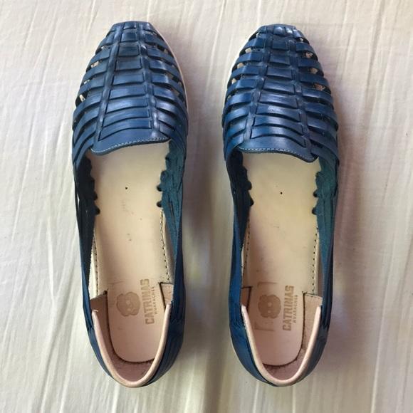 59c863008b11 Catrinas Blue leather huaraches size 11